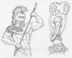 hawaiian_warrior_and_hula_girl_by_davehortontattoos-d4e28ti.jpg 800×642 pixels