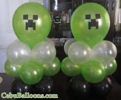 Minecraft Balloon Centerpieces