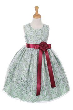 Cinderella elegant lace tea length dress, lace and lemon  taffeta with sash