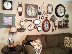 Clock wall- My grandpa basically invented this :-P