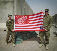 Go Red Wings even in Kandahar Detroit Hockey, Detroit Sports, Detroit Tigers, Go Red, Go Blue, Ice Hockey Teams, Hockey Stuff, Red Wings Hockey, The Mitten State