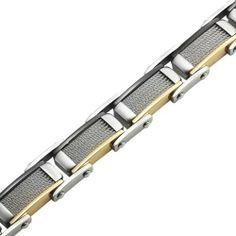 R&B Schmuck Herren Armreif Armband Kette Edelstahl - Modernes Design, Handwerker Style: 26,90€