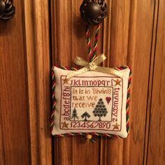 It is in Giving that We Receive Christmas Cross Stitch