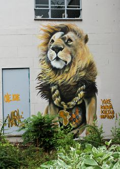 """Anyone who's into graffiti and street art and is from the UK should now be well aware of the """"Upfest"""" festival that happens every year in Bristol. Street Art Love, Amazing Street Art, Street Art Graffiti, Art For Art Sake, All Art, The Lion Sleeps Tonight, Cool Artwork, Colorful Artwork, Popular Art"""