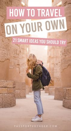 When you're traveling alone, you often encounter unique challenges and situations! This can be both exhilarating and a little bit scary. These 21 pro tips from experienced solo travelers will help make your whole trip much more safe and fun! #solotravel #traveltips #travelhacks #travel