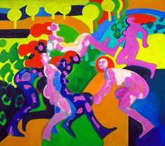 Figurative Composition #7 1965 by Emilio Cruz