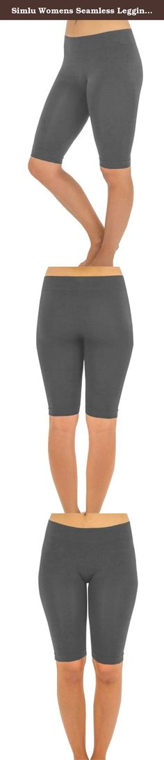 Simlu Womens Seamless Leggings, Short Leggings for Women. Join the Simlu Fashion Club These Short Leggings for Women symbolize style and fashionable chic. The fitted, hugging look has a slimming effect. Composed of 92% Nylon, 8% Spandex for durable and comfortable wear; these compression leggings are super stylish and come in a variety of colors to choose from. They are trendy, pretty, and comfortable, which makes these leggings form a true fashion statement, while leaving you with the...