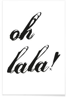 Ohlala als Premium Poster von Froilein Juno Calligraphy Worksheet, Short Messages, Bollywood Wedding, Printable Quotes, Lettering, Instagram Quotes, Travel Quotes, Motivation Inspiration, Quotations