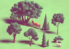 lowpoly projects and illustrations of 2016
