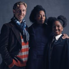 Ron, Hermione and Rose Granger-Weasley as they will appear in Harry Potter and the Cursed Child Parts One and Two.  - L-R, Paul Thornley as Ron, Noma Dumezweni as Hermione and Cherrelle Skeete as Rose.