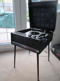 1960s Dansette Bermuda record player with legs on eBay