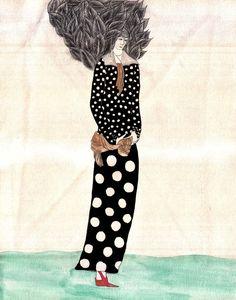 "Saatchi Online Artist: Vladimir Alexandrov; Pen and Ink, 2004, Drawing ""woman a flower"""