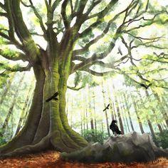 The Forest, Burningraph * Artwork, Plants, Work Of Art, Auguste Rodin Artwork, Artworks, Planters, Illustrators, Plant, Planting