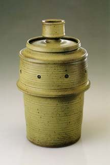 Roger Corsaw, American, b. 1913, lidded jar This was my teacher at Oklahoma