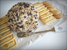 Chocolate Chip Pecan Cheeseball ~ Serve with assorted cookies