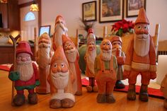 Carved Santas | Flickr - Photo Sharing!