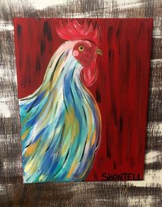 66 Ideas for farmhouse kitchen yellow subway tiles Rooster Painting, Rooster Art, Red Rooster, Hand Painting Art, Diy Painting, Chicken Painting, Vintage Industrial Decor, Farmhouse Kitchen Decor, Boho Kitchen