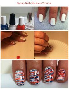 Stripey Nail Art Tutorial
