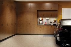Hanging cabinets allow for easy cleaning underneath.  Available at Organized Hawaii