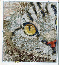 Cat cross stitch, 1 of 2