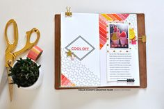 Cool Off Traveler's Notebook pages by scrappyleigh at @studio_calico