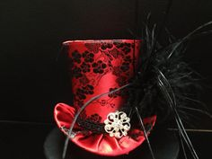 Hey, I found this really awesome Etsy listing at https://www.etsy.com/listing/156294095/red-black-flower-brocade-satin-mad