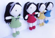 Muñecas amigurumi Riquiñas,Muñeca tejida,Juguete muñeca,hecho en galicia