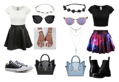 """""""Twinsies!"""" by creativegurlsrbaexoxo ❤ liked on Polyvore featuring Dr. Martens, Pilot, Converse, Fendi, Lipsy and Quay"""