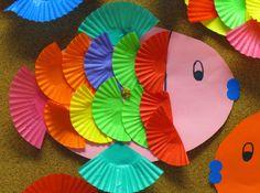 Okulöncesi Sanat ve Fen Etkinlikleri: Cup Kek Kalıbından Balık Yapımı