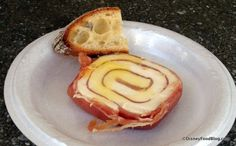 First Look! 2015 Epcot Flower and Garden Festival MUST-EAT Treats! Now this looks interesting... pinwheel of mozzarella and prosciutto with ciabatta bread.