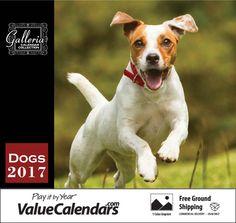 "2017 Dogs Calendar | 10-5/8"" x 18-1/2"" Promotional Dog Calendars | Cheap Dog Calendars"