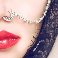 indian nose ring nose ring chain nath bridal nose ring Fatiha world nose jewelry septum gold tone chain wedding nose jewels Nath Nose Ring, Nose Ring Jewelry, Bridal Nose Ring, Hair Jewelry, Wedding Jewelry, Fashion Jewelry, Silver Jewelry, Hair Wedding, Wedding Gold