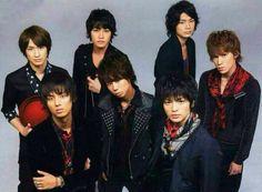 Kis-My-Ft2 Hiromitsu Kitayama, Kento Senga, Toshiya Miyata, Wataru Yokoo, Taisuke Fujigaya, Yuta Tamamori and Takashi Nikaido
