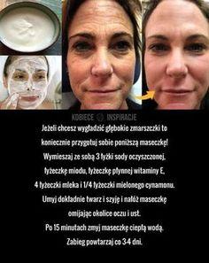 Jeżeli chcesz wygładzić głębokie zmarszczki to koniecznie przygotuj sobie poniższą maseczkę! Wymieszaj ze sobą 3 łyżki sody oczyszczonej, łyżeczkę miodu, ... Beauty Care, Diy Beauty, Beauty Habits, Face Massage, Diy Skin Care, Natural Cosmetics, Face Care, Organic Skin Care, Healthy Skin