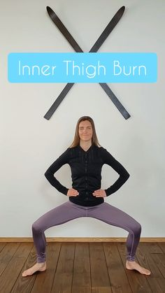 Inner Thigh Workout, Un. Thigh Workout This non. thigh barre video series is a great workout to do at home. Slim your thighs and get lean legs. Repeat this exercise 3 . Fitness Workouts, Training Fitness, At Home Workouts, Fitness Tips, Fitness Motivation, Inner Leg Workouts, Strength Training, Fitness Memes, Workout Routines