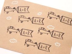 Initial stamp Custom wedding Rubber stamp by JapaneseRubberStamps