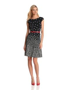 Anne Klein Women's Ombre Dot Swing Dress - http://clothing.wadulifashions.com/anne-klein-womens-ombre-dot-swing-dress/