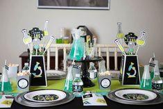 tema para festa de aniversario diferente festa de aniversario menino laboratorio de ciencia kids party ideas blog vittamina decoração para festa de aniversario de menino mesa de convidados