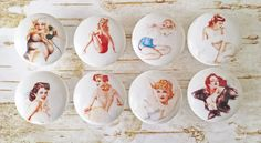 8 Sexy Pin Up Girls Knobs, Man Cave Drawer Pulls, Cleavage, Lingerie, Great Gift For Him, Fun Manly Decor, Game Room, Made To Order by ManCaveTreasures4u on Etsy