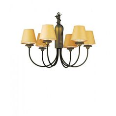 """26"""" Wide Tuscan Vineyard 6 Light Parchment Shade Chandelier - #65545 - $556.20"""