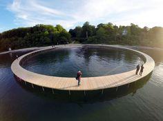 The Infinite Bridge, Sculpture by the Sea 2015,  Aarhus, Denmark   by Gjøde & Povlsgaard Arkitekter