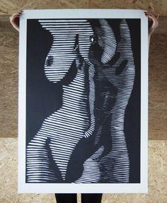 Gravure Illustration, Illustration Art Drawing, Art Drawings, Lino Art, Fashion Wall Art, Anatomy Art, Linocut Prints, Erotic Art, Zentangle