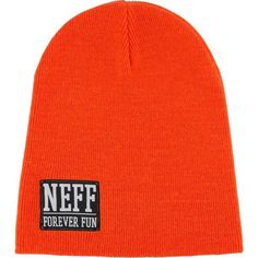Neff Headwear Forever Fun Beanie Slouchy Knit Cap Logo Patch Red #Neff #Beanie