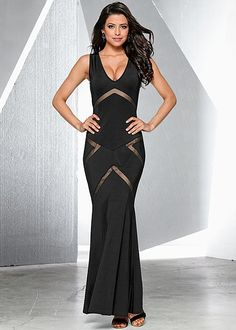 Evening maxi dress from VENUS. Sizes XS-XL, also available in red!