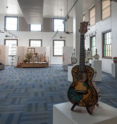 Handcrafted Melodies Exhibit, Lichty hand painted ukulele