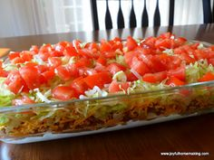 Taco Dip (use gluten free taco seasoning; use gluten free chips)