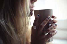 dalmatian nail wraps