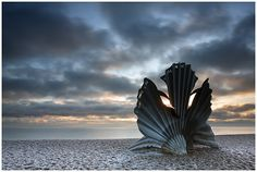 Aldeburgh, Suffolk - The scallop by Maggie Hambling