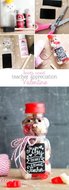 Beary Sweet Teacher Appreciation Valentine |lollyjane.com