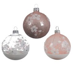 Lot de 6 boules de Noël (D80 mm) Anémone Rose poudré : choisissez parmi tous nos produits Boule de Noël